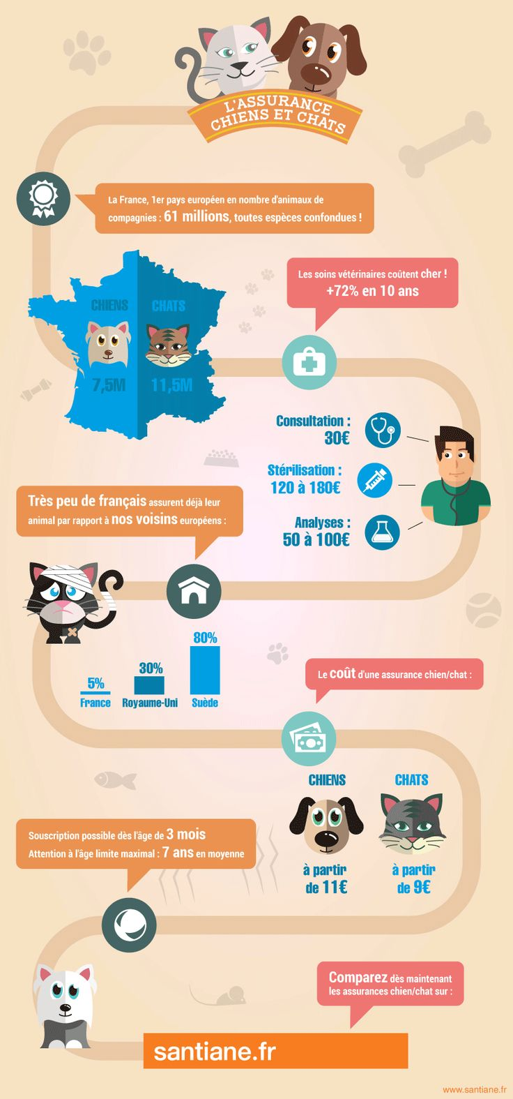 Infographie assurance chien chat