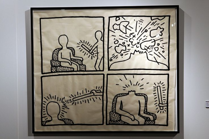 Keith Haring; Untitled; 1981. Sumi ink on vellum; 107 x 124.5 cm.
