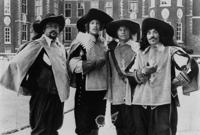 Still of Richard Chamberlain, Oliver Reed, Michael York and Frank Finlay in The Four Musketeers: Milady's Revenge