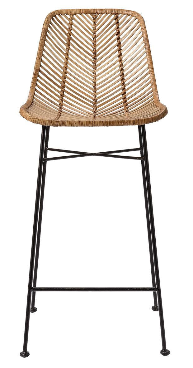 We know that good things happen when rattan meets metal in a comfy and attractive seating unit. They're happening here, with the Broader Rattan Bar Stool, making an entertaining counter awash with a li...  Find the Broeder Rattan Bar Stool, as seen in the Tropical Modern Loft Collection at http://dotandbo.com/collections/tropical-modern-loft?utm_source=pinterest&utm_medium=organic&db_sku=118852