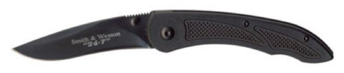 Smith  Wesson SWAT 247 Black Plain Linerlock Knife >>> You can find out more details at the link of the image.(This is an Amazon affiliate link and I receive a commission for the sales)