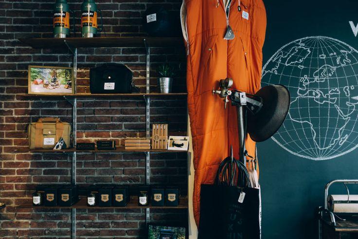 Interior of WEST. Westgoods - Handpicked goods for men. www.westgoods.co