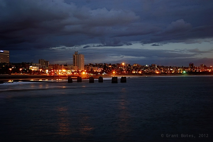 A view from the pier at the Port Elizabeth beach front. Taken early one morning.