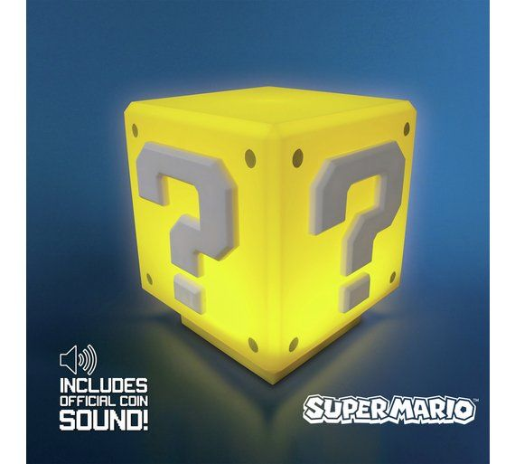 Buy Super Mario Question Block Light at Argos.co.uk, visit Argos.co.uk to shop online for Novelty lights, Lighting, Home and garden