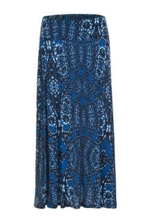 Royal blue maxi skirt #maxiskirt #summerstyle #tribalsportswear #skirt #summer #fashion #style