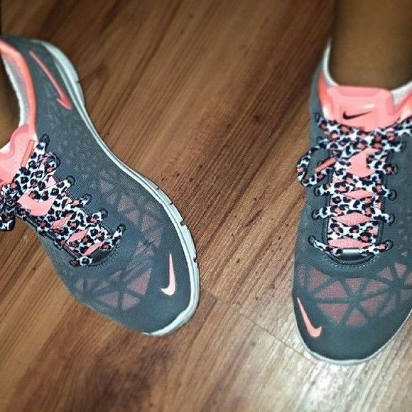 shoes nike pink nike running shoes leopard print heather grey workout shoes  workout kicks sports shoes nikes with cheetah laces pink and gray with  cheata ...