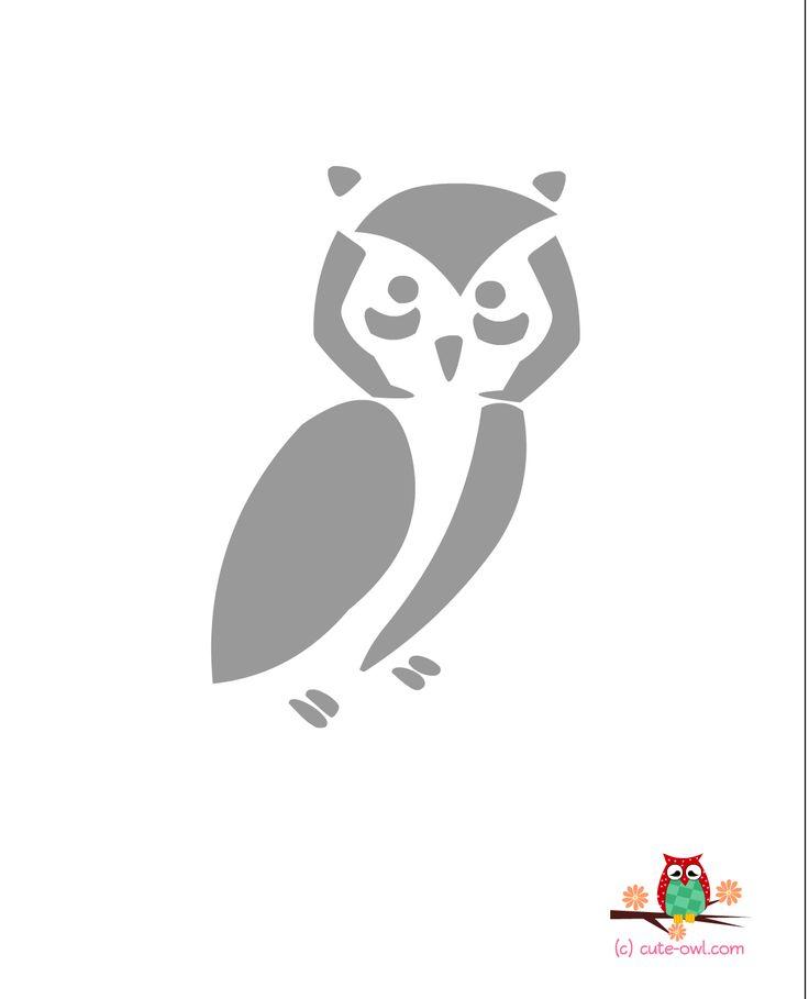 25 best ideas about owl stencil on pinterest owl for Simple owl pumpkin pattern