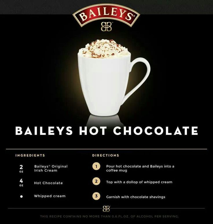 Baileys hot chocolate: Drinks Beverage Ideas, Baileys Hot, Hot ...
