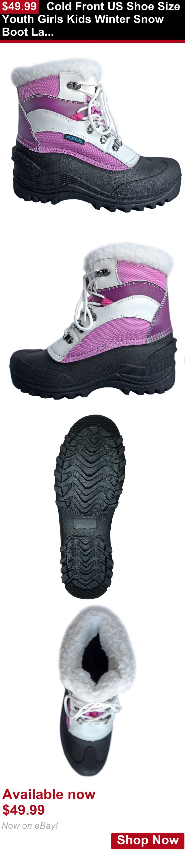 Children girls clothing shoes and accessories: Cold Front Us Shoe Size Youth Girls Kids Winter Snow Boot Lavender White Lace Up BUY IT NOW ONLY: $49.99