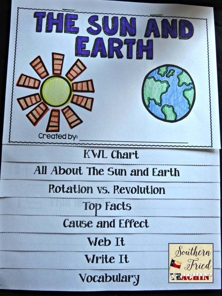 Interactive flip book on the Sun and Earth, the cause of seasons, and revolution and rotation. Fit a lot of information into this flip book! Perfect for review and assessment. #sunandearth #seasons #rotation #revolution #science #flipbook