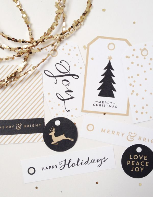 Free Printable Holiday Tags | from One Velvet Morning , cute craft and chalkboard details that would work in project life pages or art journals