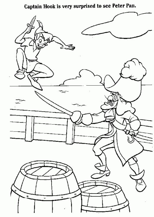 Printable Coloring Sheet Of Captain Hook