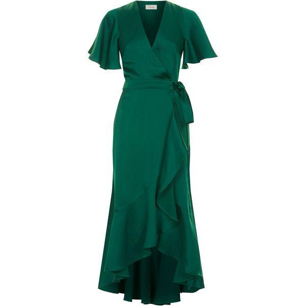 Temperley London Parrot Wrap Dress ($1,225) ❤ liked on Polyvore featuring dresses, temperley london, wrap dress, temperley london dress, blue dress and blue wrap dress