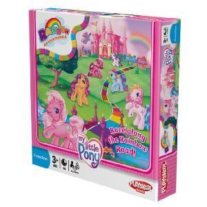 Hasbro Playskool My Little Pony Rainbow Adventure Game  No description  http://www.comparestoreprices.co.uk/kids-games/hasbro-playskool-my-little-pony-rainbow-adventure-game.asp