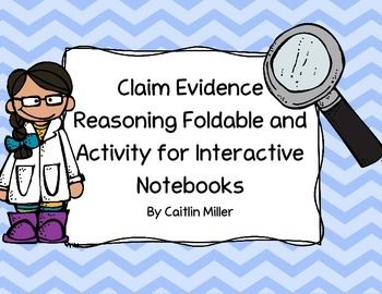 This is my Claim Evidence Reasoning Foldable and Activity for Interactive Notebooks. This foldable focuses on how to write clear scientific explanations to conclude lab experiments. The foldable has two versions, a filled version and an outlined version.