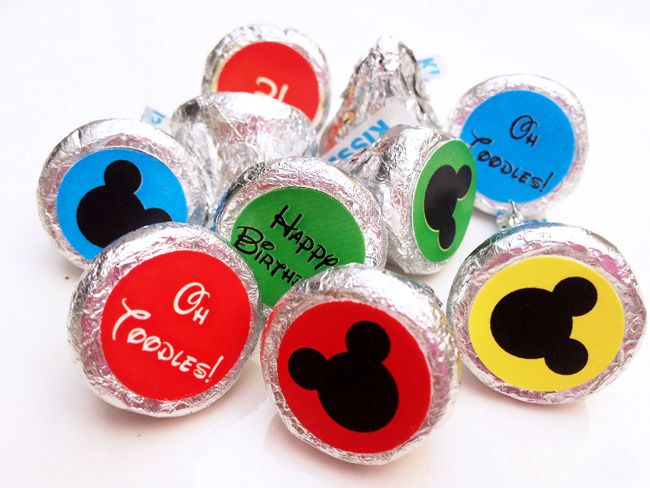 Mickey Mouse Clubhouse Party Hersheys Kisses Dots