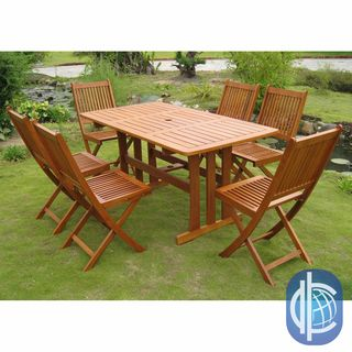International Caravan Royal Tahiti Zamora 7 Piece Outdoor Dining Set