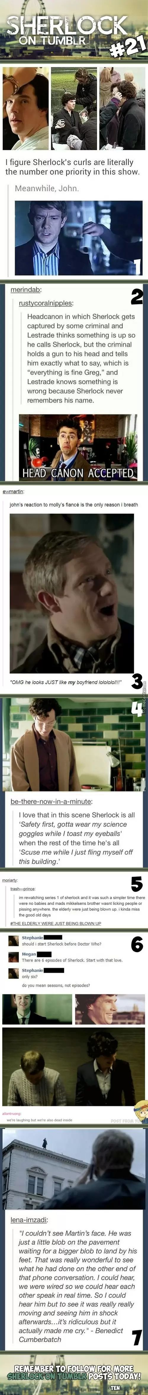 "Sherlock On Tumblr #21 ""I miss the good old days""- that awkward moment when the Sherlock fandom becomes the Supernatural fandom for a second"