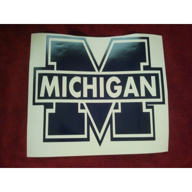 Michigan wolverines blue cornhole decals vinyl stickers easy application new listing in the other