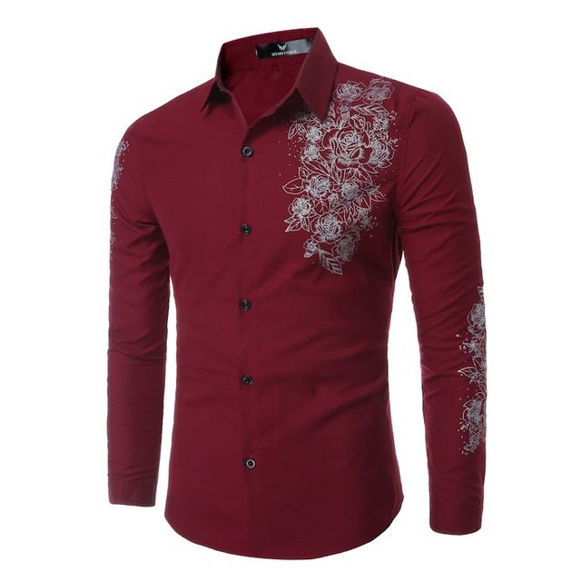 Fair price Elegant Noble Floral Prints Men Shirt Fashion Mens Shirts Long sleeve Slim Fit Casual Social Camisas Masculinas Chemise homme just only $12.99 with free shipping worldwide  #shirtsformen Plese click on picture to see our special price for you