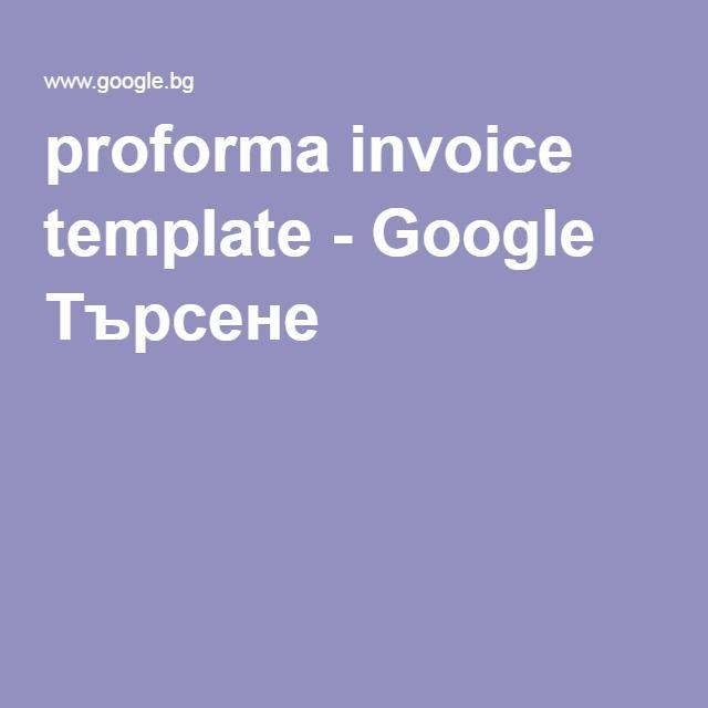 Proforma Invoice Template  Google   Google Search