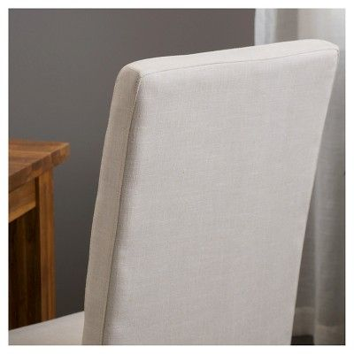 linden tallback natural fabric dining chairs set of 2 natural