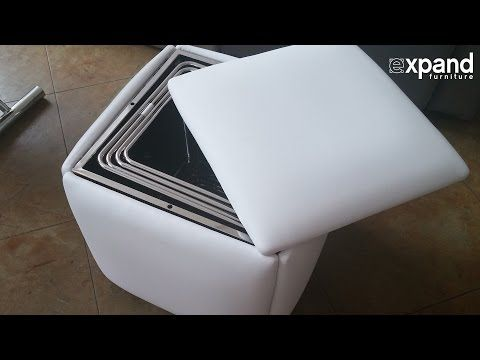 Cube 5 in 1 Ottoman Seat Space Saver - Expand Furniture - Folding Tables, Smarter Wall Beds, Space Savers