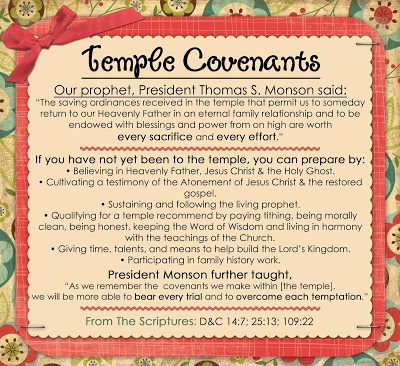 July: Orinances and Covenants:  Little LDS Ideas