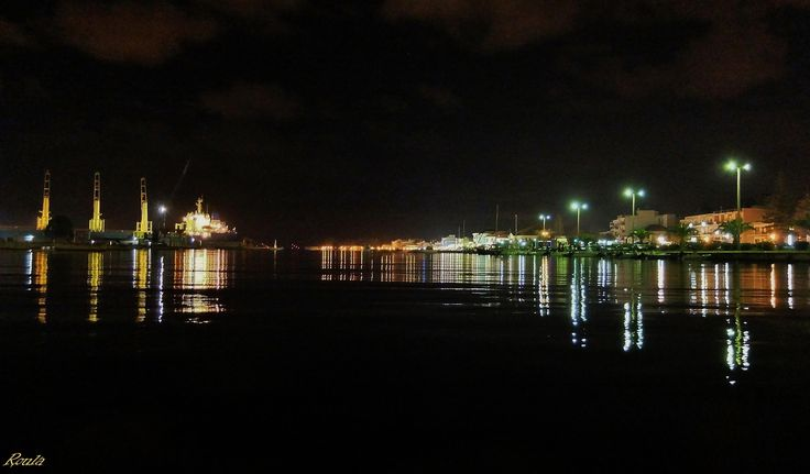 the port at night