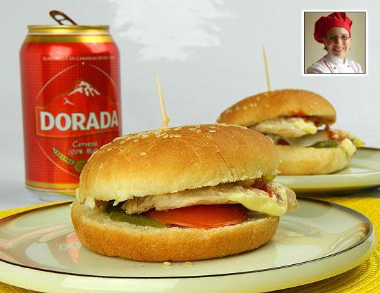 Hamburger con pollo arrostito