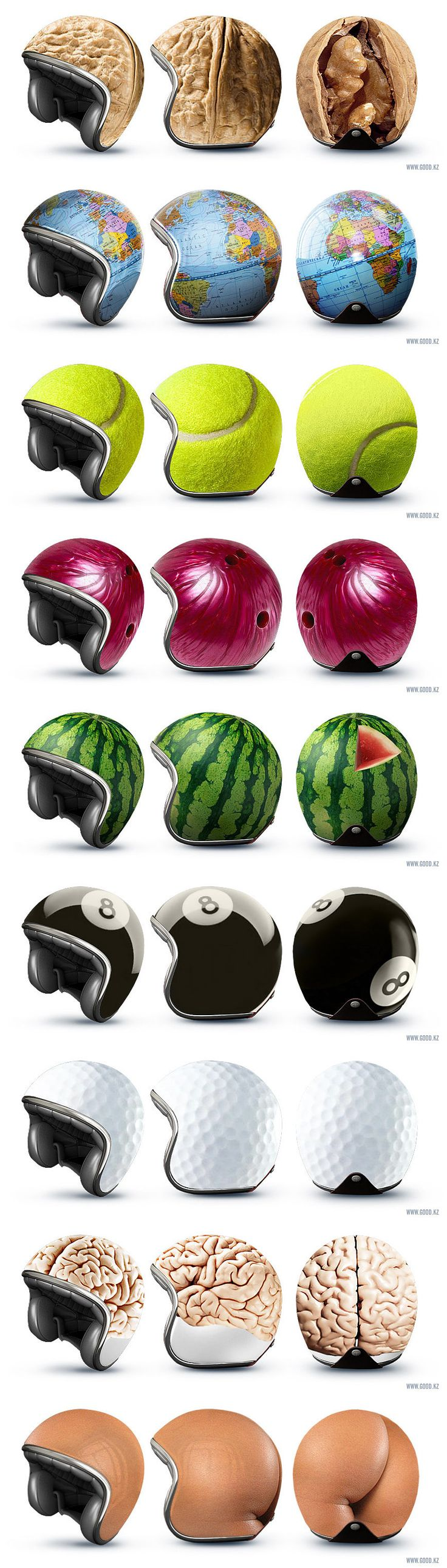 Claire Vance you should get one of these Weird Helmets!!