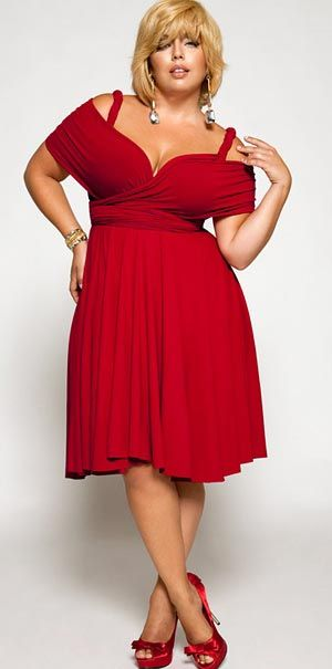 Red dresses plus size women