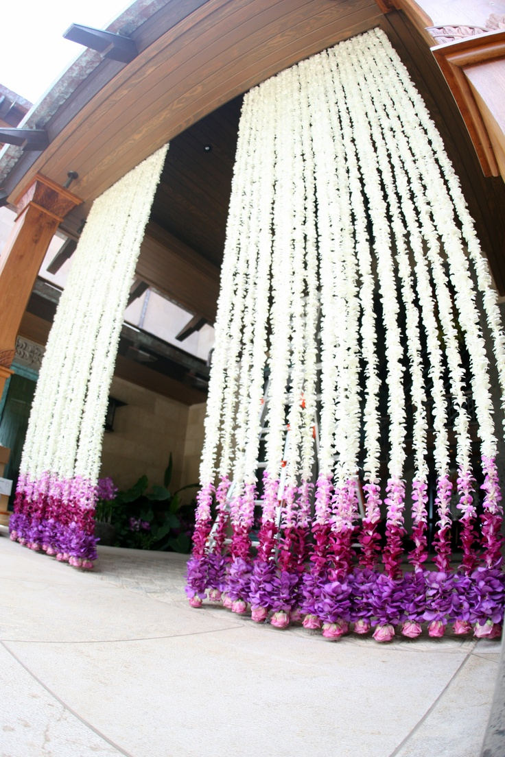 Handmade fresh orchid curtain for Residence Entrance by Asa Flowers