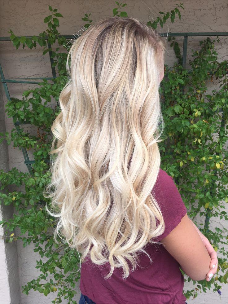Blonde balayage on natural level 8 hair