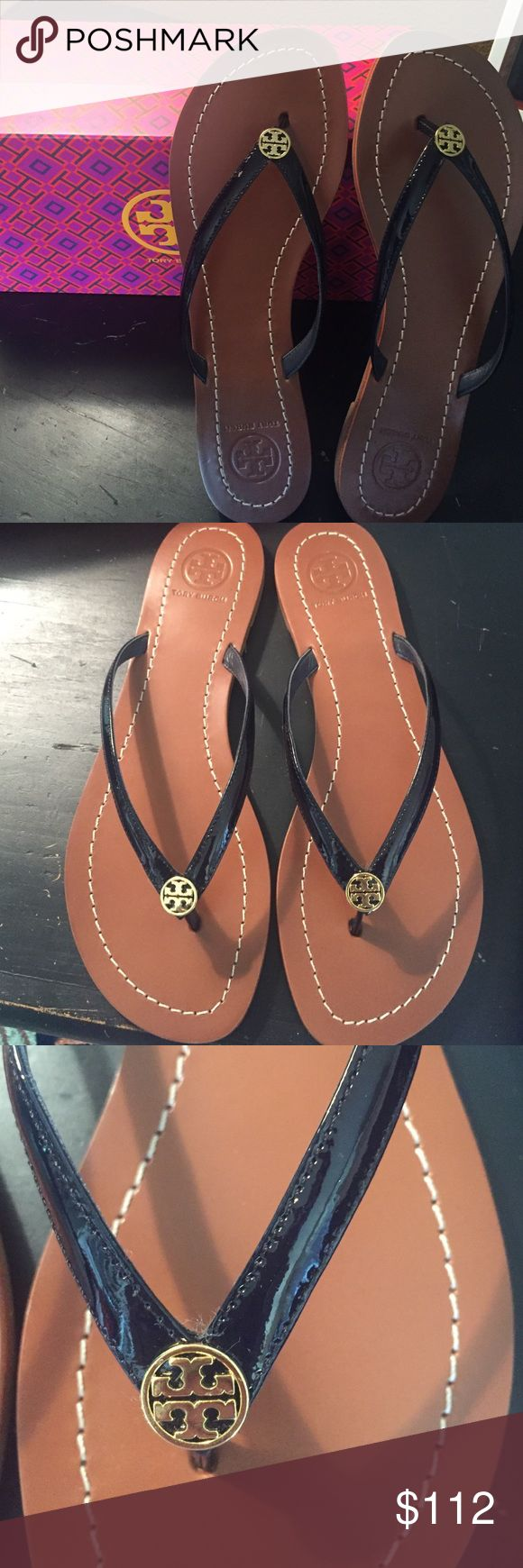 Tory Burch sandal Tory Burch Terra Thong sandal in bright navy. Still in box with dust bag. Tory Burch Shoes Sandals