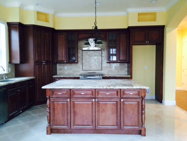 We Bought The Pre Assembled Kitchen Cabinets Bathroom Vanities And Office Cabinets In Their