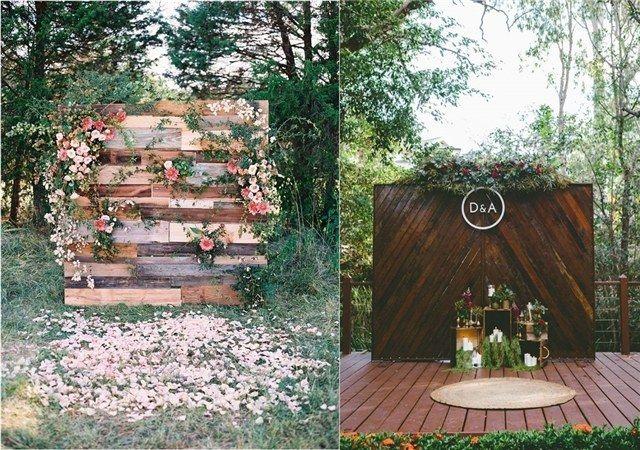 rustic wedding backdrop / http://www.deerpearlflowers.com/wedding-backdrop-ideas-from-pinterest/