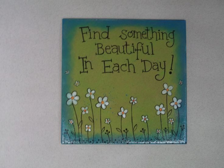 """Hand painted ceramic tile by Craft at Fourways """"One of a Kind"""" artist Margie Gray"""