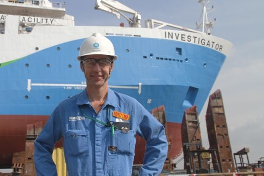 Steve Thomas is part of the CSIRO Site Team in Singapore, working on the construction of Australia's new research vessel, RV Investigator.
