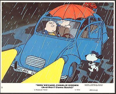 PEANUTS Charlie Brown Snoopy Bon Voyage Charlie Brown 1980 lobby card