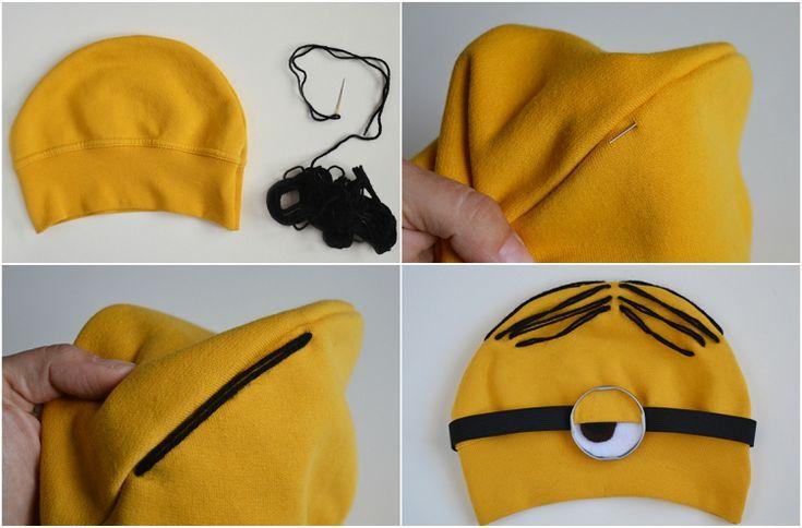 minion kostüm selber machen anleitung gelbe mütze haare #fasching #minions #carnival