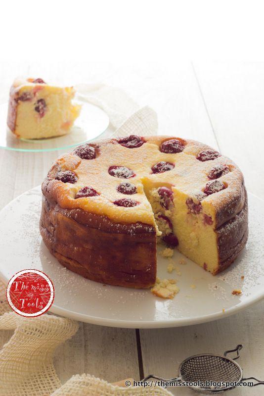 The Miss Tools: Vaniglia cheesecake con ciliegie (senza base) - Vanilla Cherry cheesecake