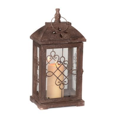 Antique Brown Wood Lantern, 16.5 in. | Kirkland's