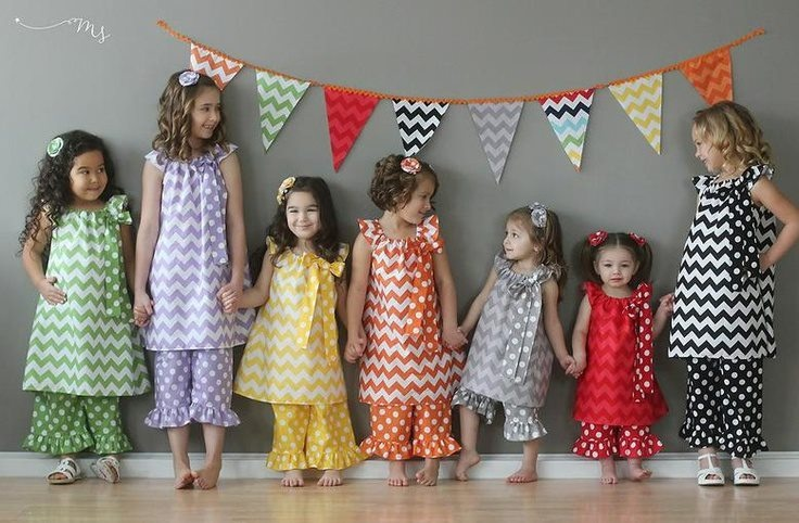 cute chevron bunting and even cuter kids