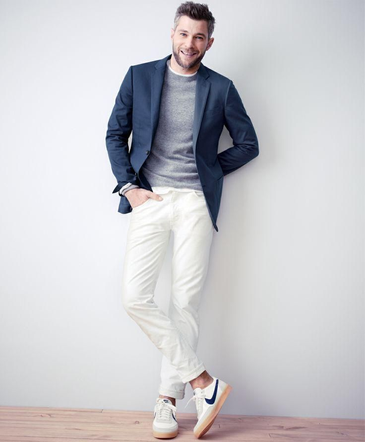 1000  images about How to wear white jeans ? # men's fashion on ...