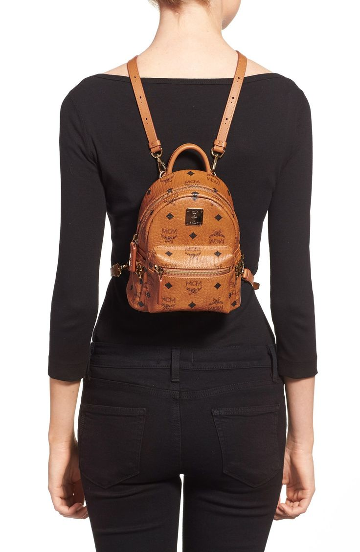 MCM 'Mini Stark X' Studded Convertible Backpack $670