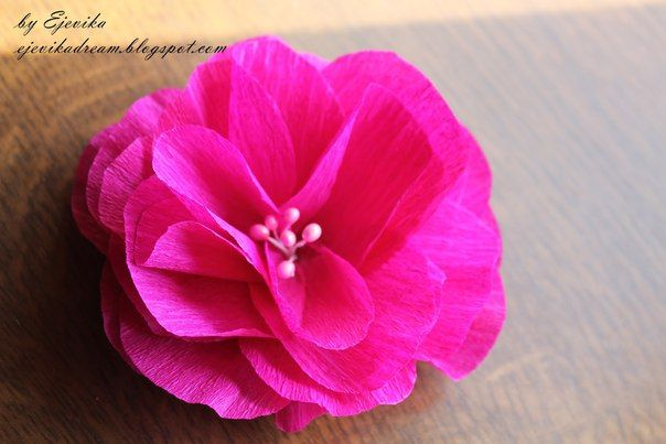 Como hacer flores faciles de papel crepe 1 recursos p - Como hacer rosas de papel ...