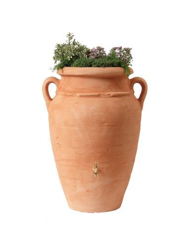 Contemporary Rain Barrel Urn Holds 65 Gallons