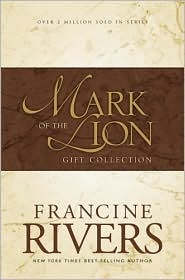 Francine Rivers, a Christian, historical fiction author.  This is my favorite all time author, favorite books. I reccommend these more than any others. In turn I have reread them more than any other book as well.