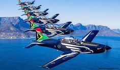 Silver Falcons Exercise over Port Elizabeth, South Africa